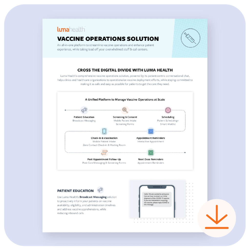 vaccine operations solution infographic thumbnail