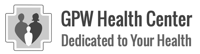 GPW health center logo with tagline dedicated to your health