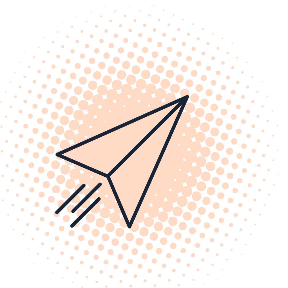 sent paper airplane